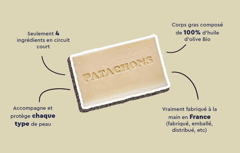 les biens faits du savon naturel Les Patachons
